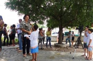 Entrevista realizada por alunos do Varanda de Folia durante a Audiência