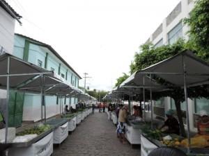 Barracas na rua Duque de Caxias